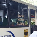 メキシコプエブラのローカルバスの写真