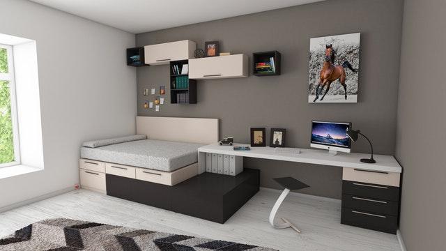 Foto de um quarto moderno