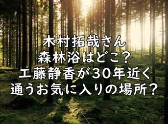 木村拓哉 森林浴 どこ 画像