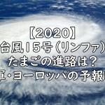 2020 台風15号 たまご 進路 予想 画像