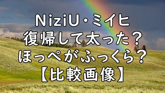 ミイヒ 太った 太ってきた ふっくら ほっぺ NiziU