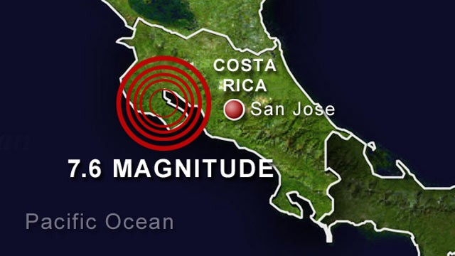7.6 Magnitude Earthquake Hits Costa Rica