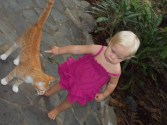 Isa and the cat