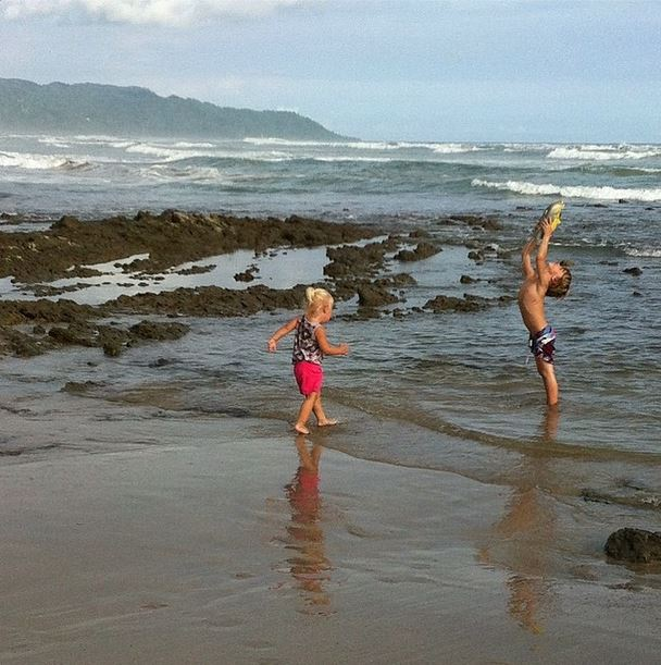 Kids playing in the tide pools