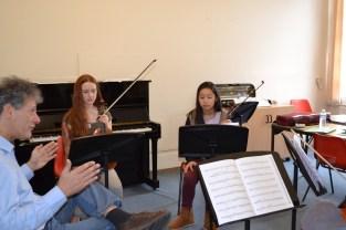 Pal Banda coaching Beethoven on 5th December © Hattie Rayfield