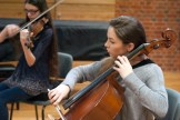 Deep concentration playing Debussy String Quartet, Part II, Nov 2014 Photo © Chloe Hayes