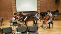 Brahms quartet rehearsal in the Recital Room