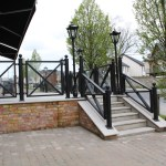 External Handrail with 10mm Toughened Glass Infill (1)