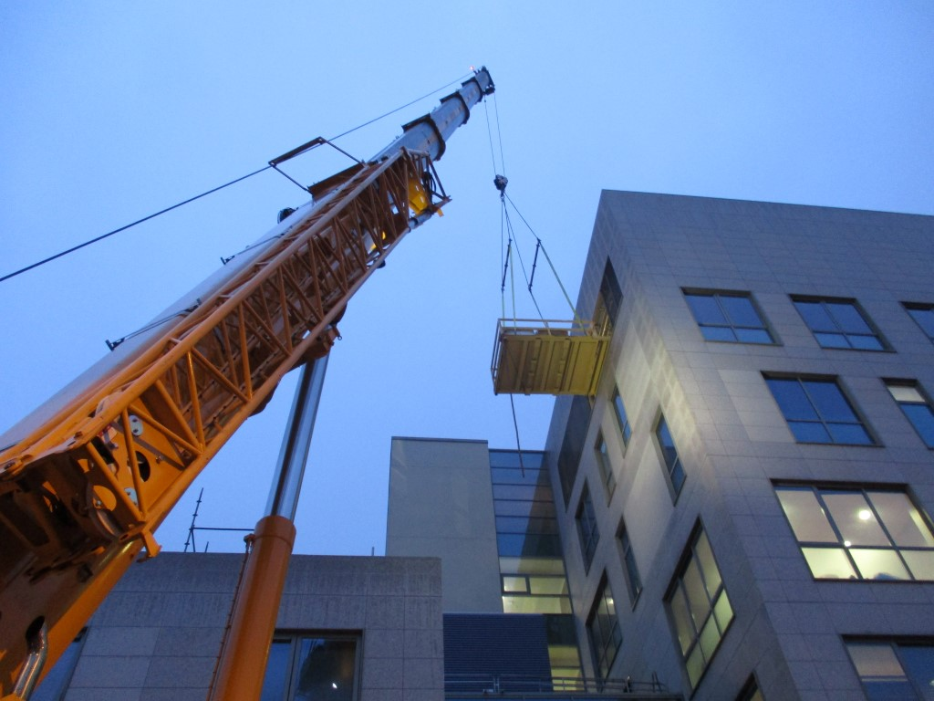 Lifting Platform in use at Limerick Regional Hospital Extension