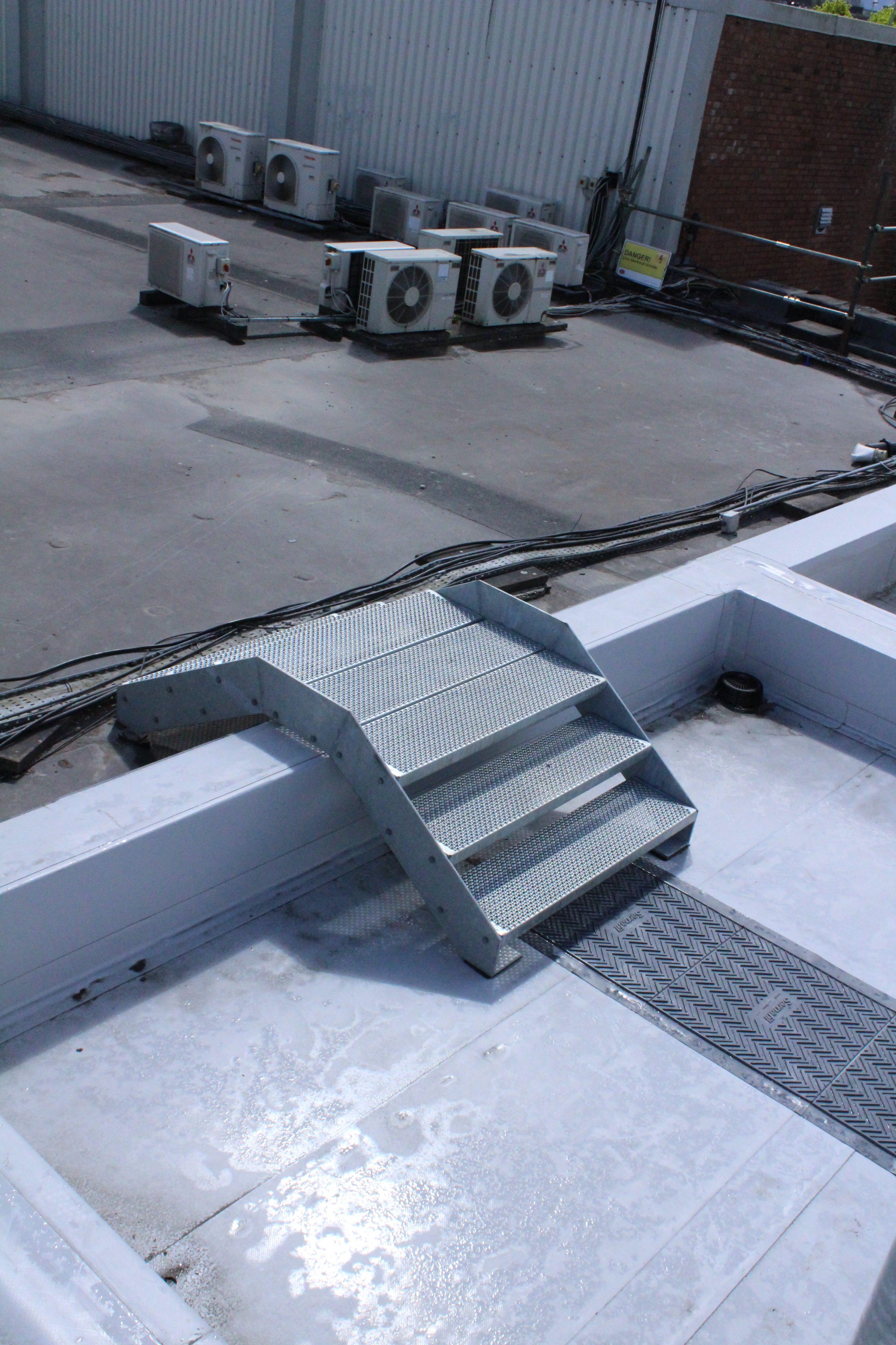 Mild steel galvanised step overs