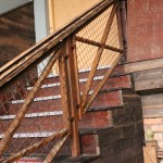 Painted Rust Effect Stairs Railing (3) with Mesh Infill
