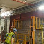 10 b - Lifting beams into position