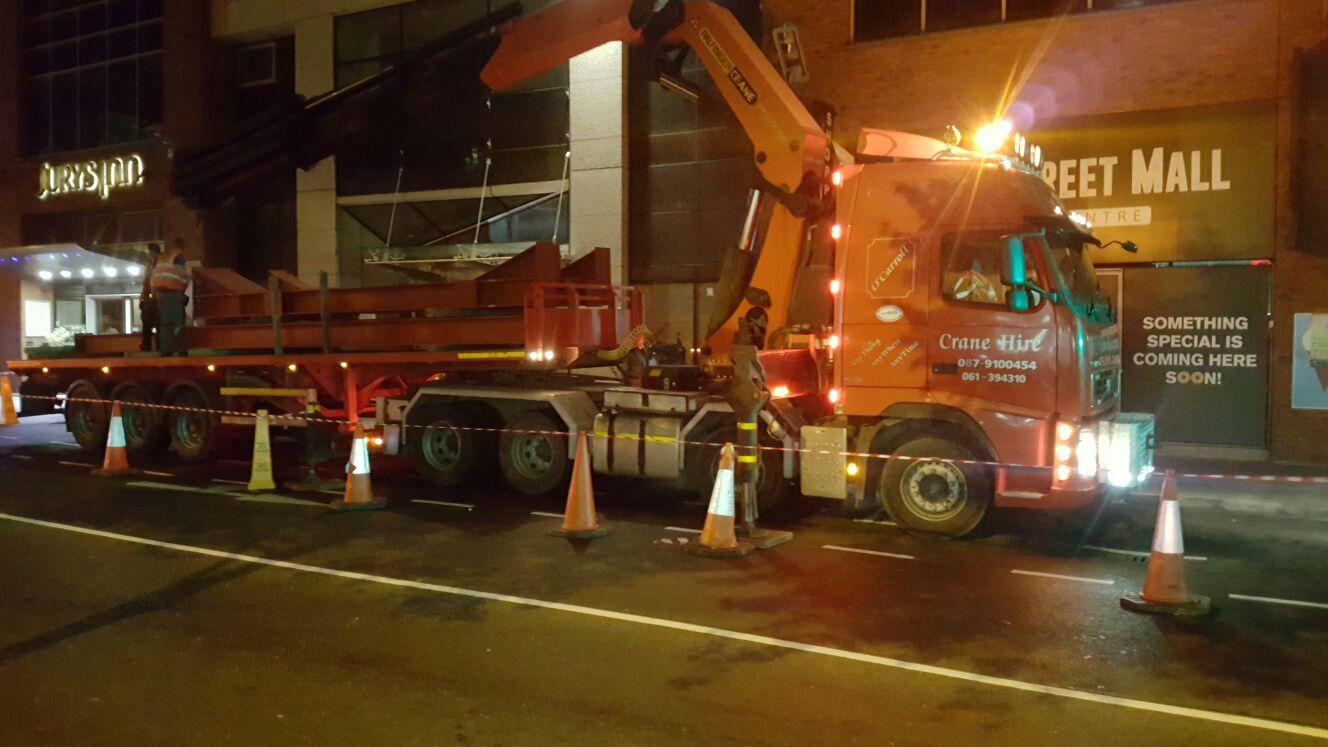 2 - Steel being unloaded on site