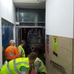 4 - Steel coming through door opening