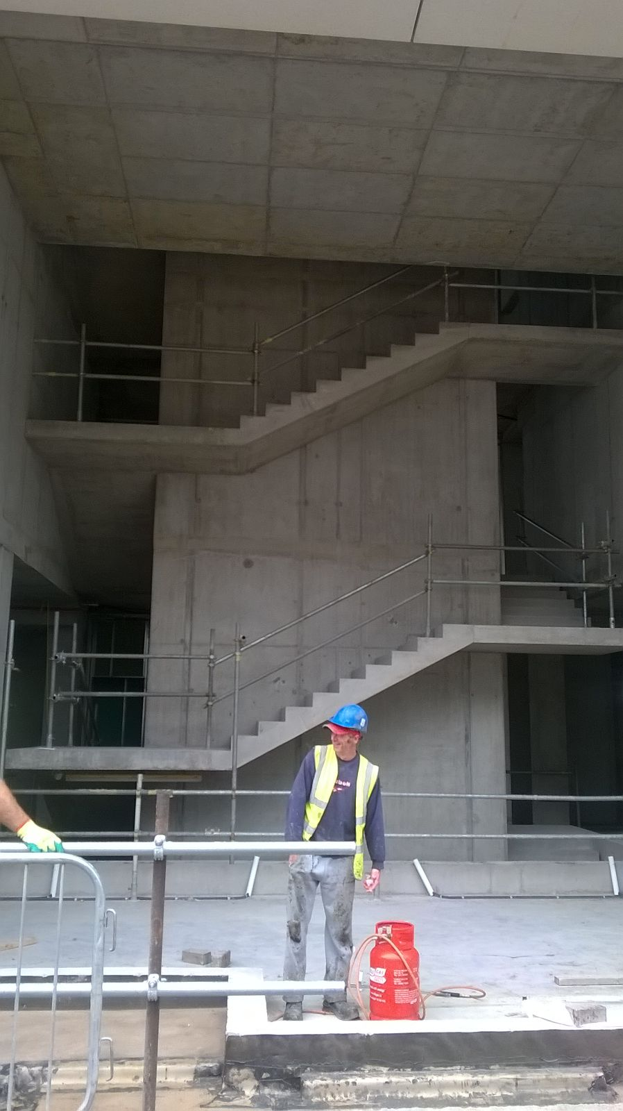 1 -Partial view of feature stairs prior to commencement