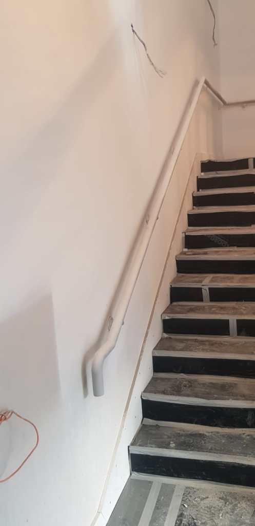 Back stair case installation 1