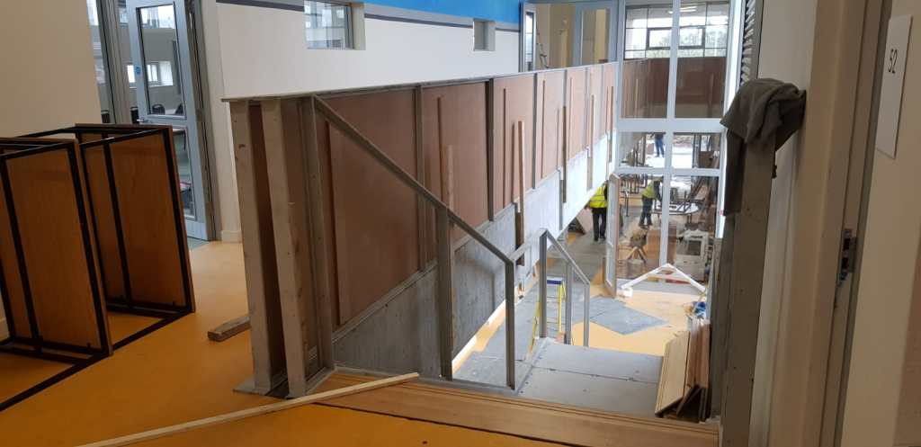 Installation of feature stair case in a school (6)