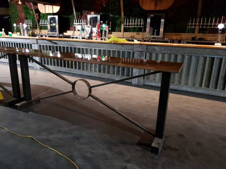 Mild steel bar table