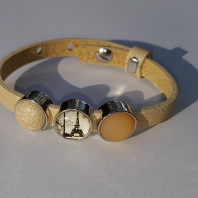 cuoio armband off white - eiffel