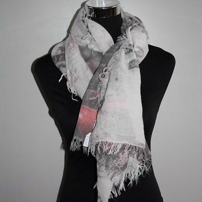 Roze new york sjaal