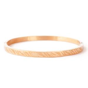 Armband zebra print Rosé goud