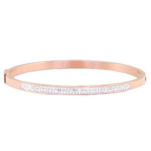 Rosegold armband met strass steentjes