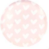 Hartjes licht roze