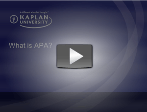 What is APA?  Learn APA to help your research writing