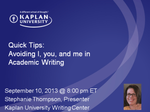 Avoiding You workshop title slide