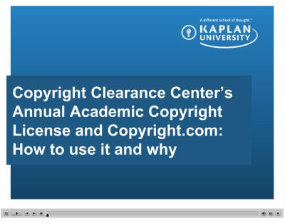 Annual Academic Copyright License Video