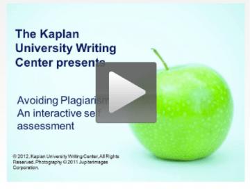 Avoiding Plagiarism Video