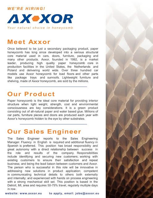 Axxor NA Sales Engineer Job Posting-1