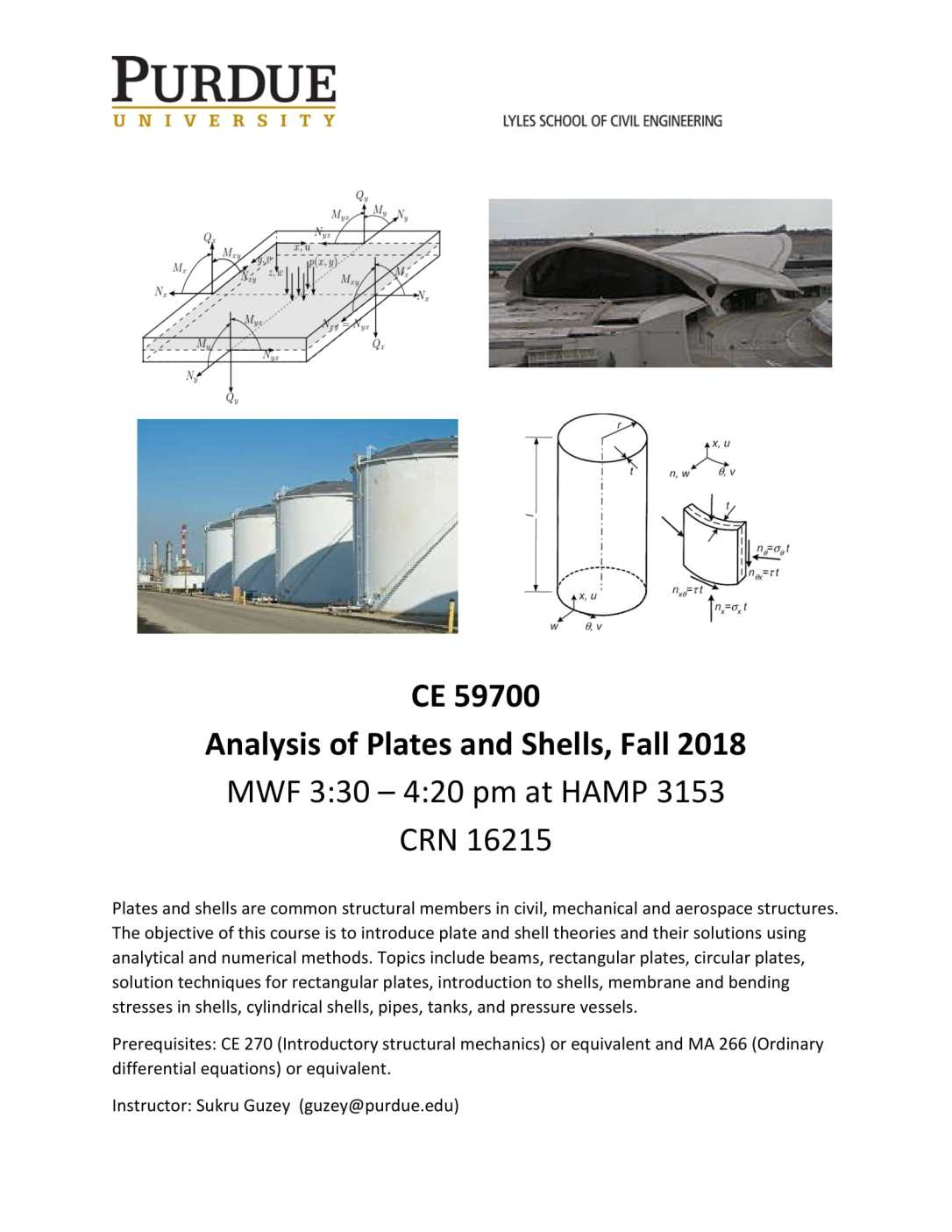 CE 597 Analysis of Plates and Shells - Flyer-1