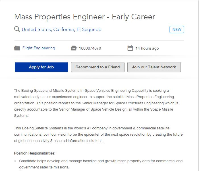 Mass Properties Engineer 01