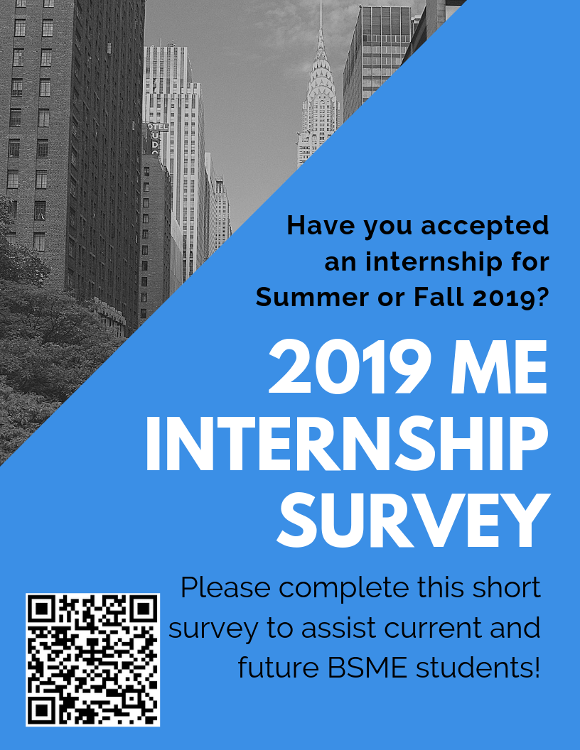 2019 ME Internship Survey