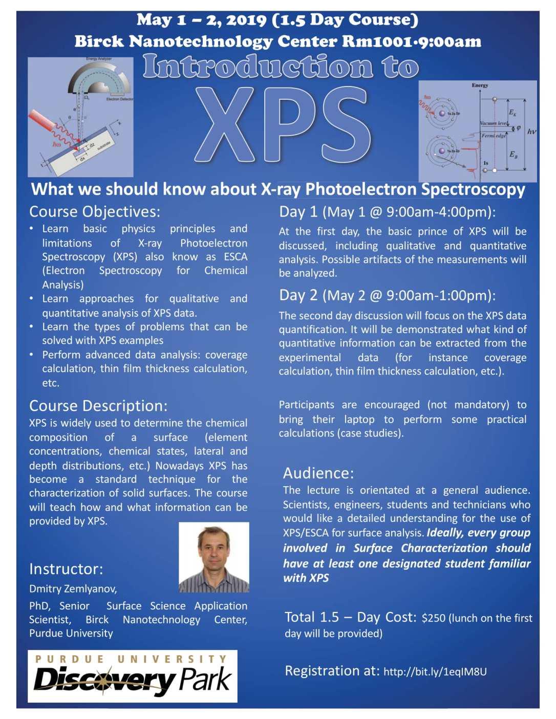 Introduction to XPS: 1 5 Day Course through Birck Nanotech