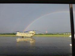 The cool helicopter we saw on the ramp!