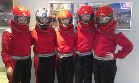 Grand Prix Team in Helmets