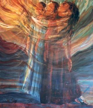 "Forgotten Land - acrylic on masonite - 48"" x 40"""
