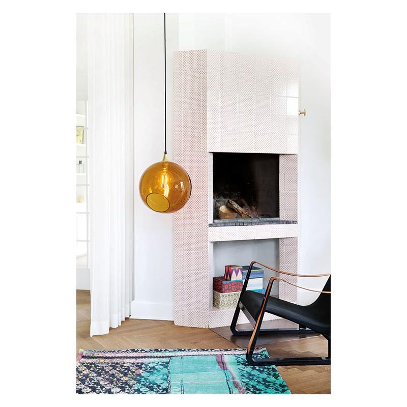 Grande Suspension Design En Verre Transparent Color