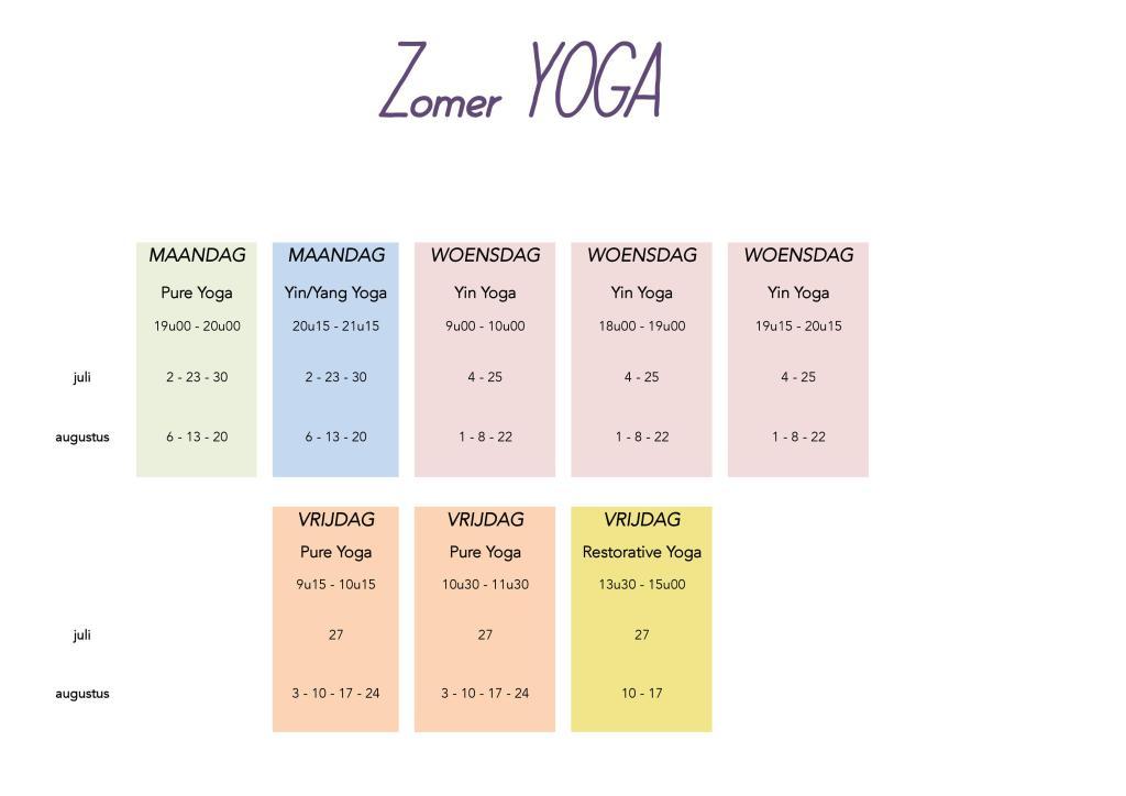 Pure Yoga zomer yoga