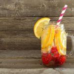 Detox water sinaasappel en framboos Bottl Pure and Liquid