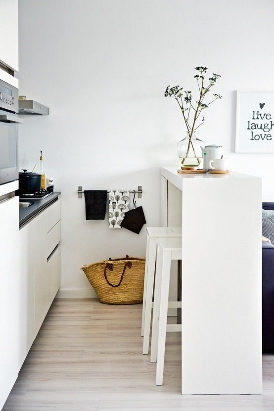 tiny white kitchen