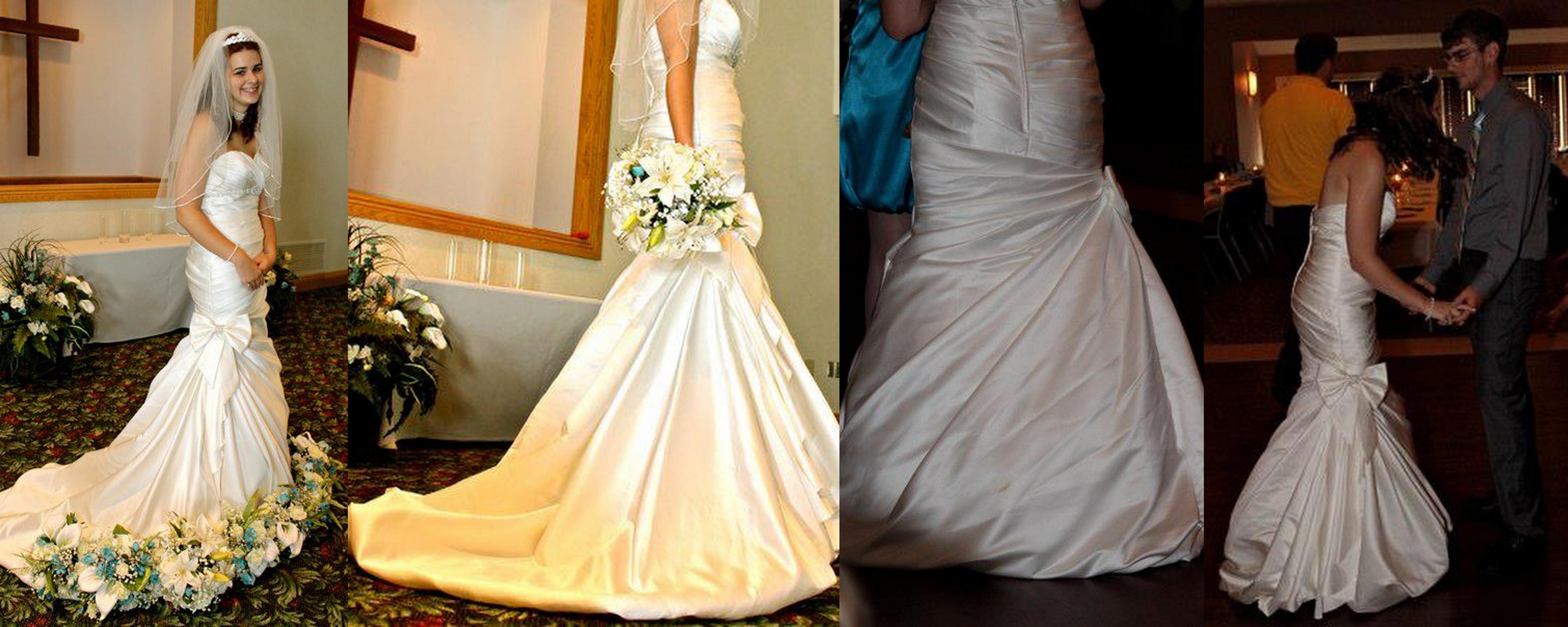 DIY Wedding Dress Bustle