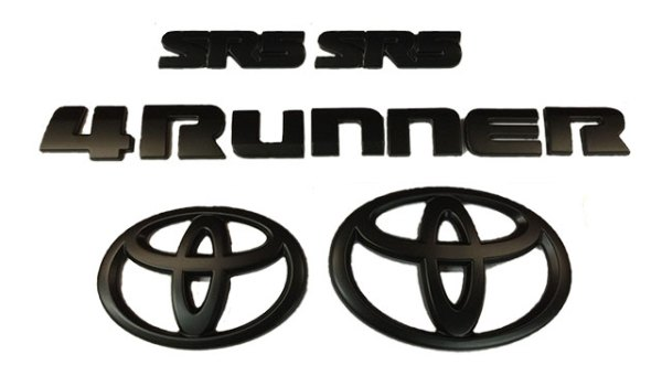 4Runner SR5 Blackout Emblem Kit