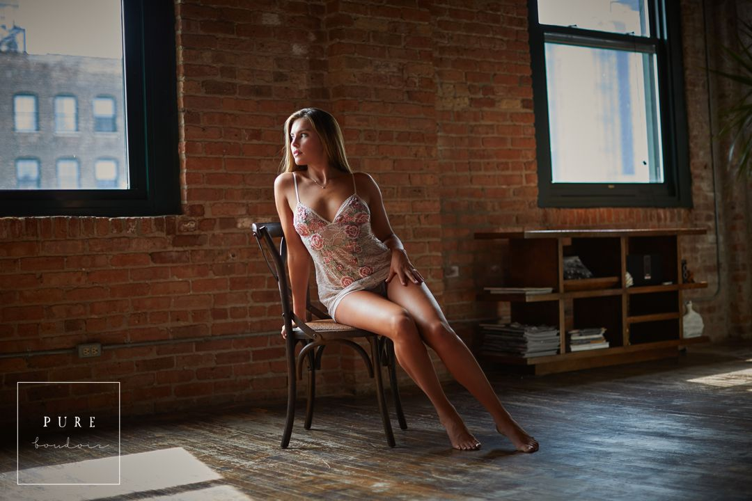 sensual lingerie photo shoot