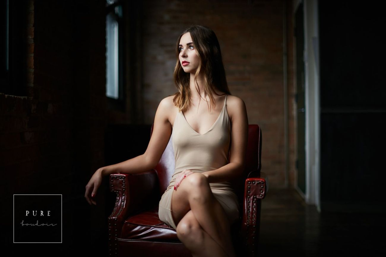 Chicago lingerie photo session