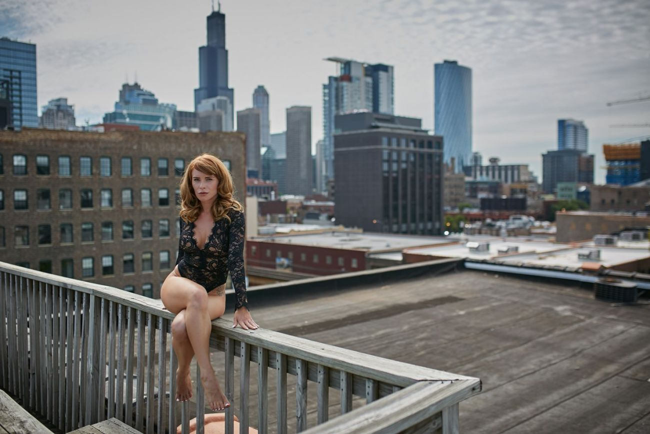 chicago skyline outdoor boudoir  - A Gift for Her - Perfect birthday, wedding or anniversary gift.