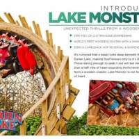"""Lake Monster"" Looping Wooden Coaster for Darien Lake in 2014"