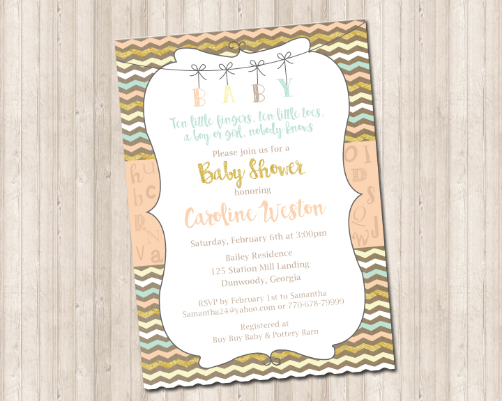 Baby Shower Invitations 50 Each